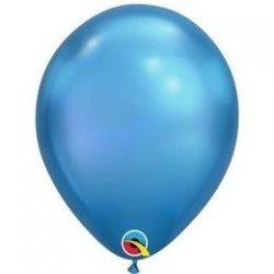Chrome Blue Balloon