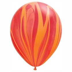 SuperAgate Red Orange Rainbow Balloon