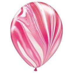 SuperAgate Red & White Balloon
