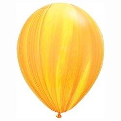 SuperAgate Yellow Orange Rainbow Balloon